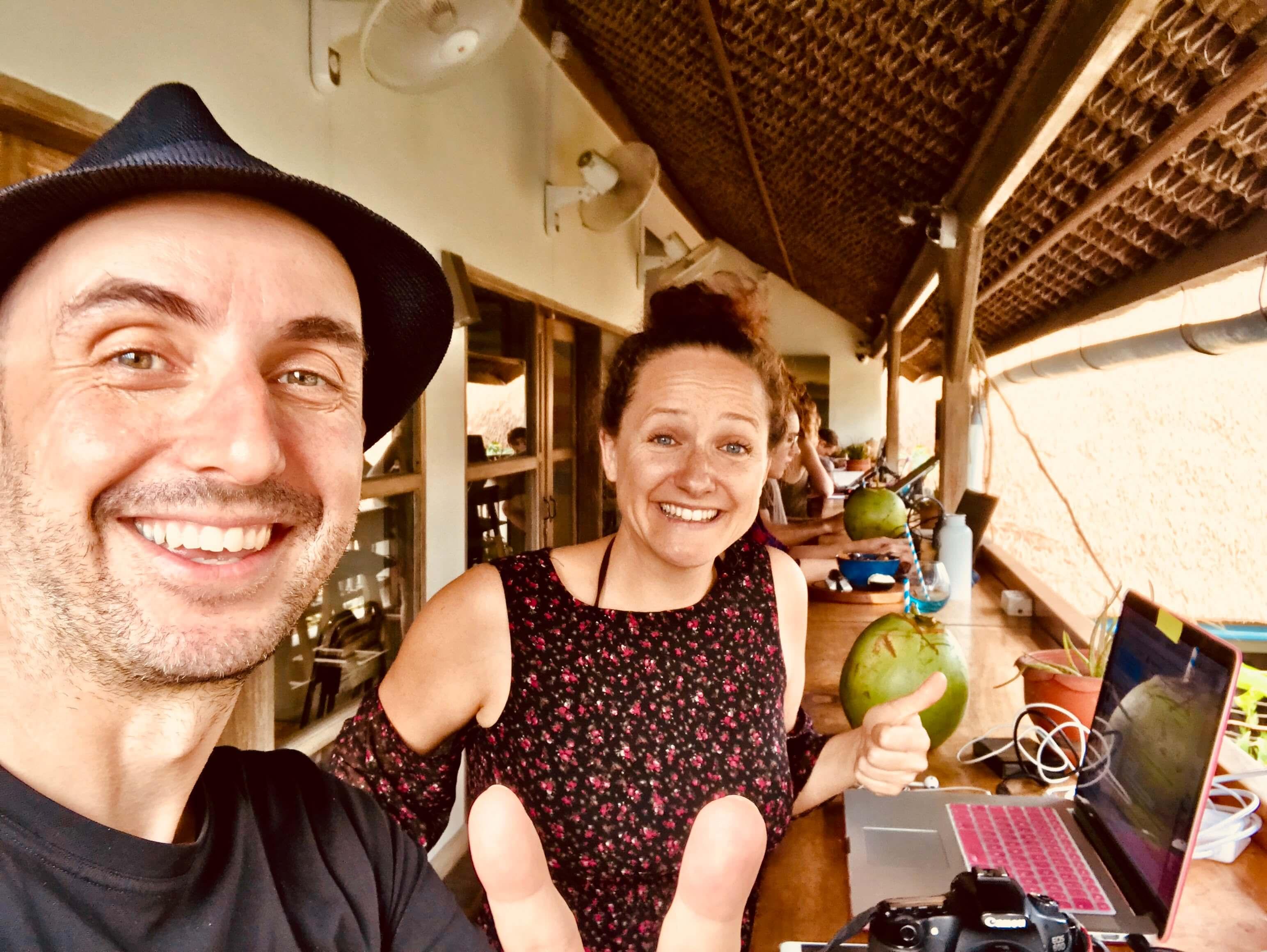 Peggy und Marco im DojoBali